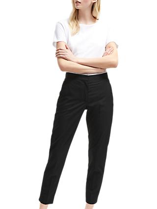 French Connection Tailored Twill Trousers, Black