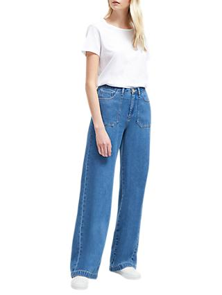 French Connection Shelby Wide Leg Jeans, Vintage Blue