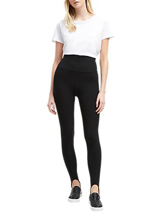 French Connection Selby Jersey Stirrup Leggings, Black