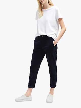 French Connection Dawn Tapered Trousers, Utility Blue