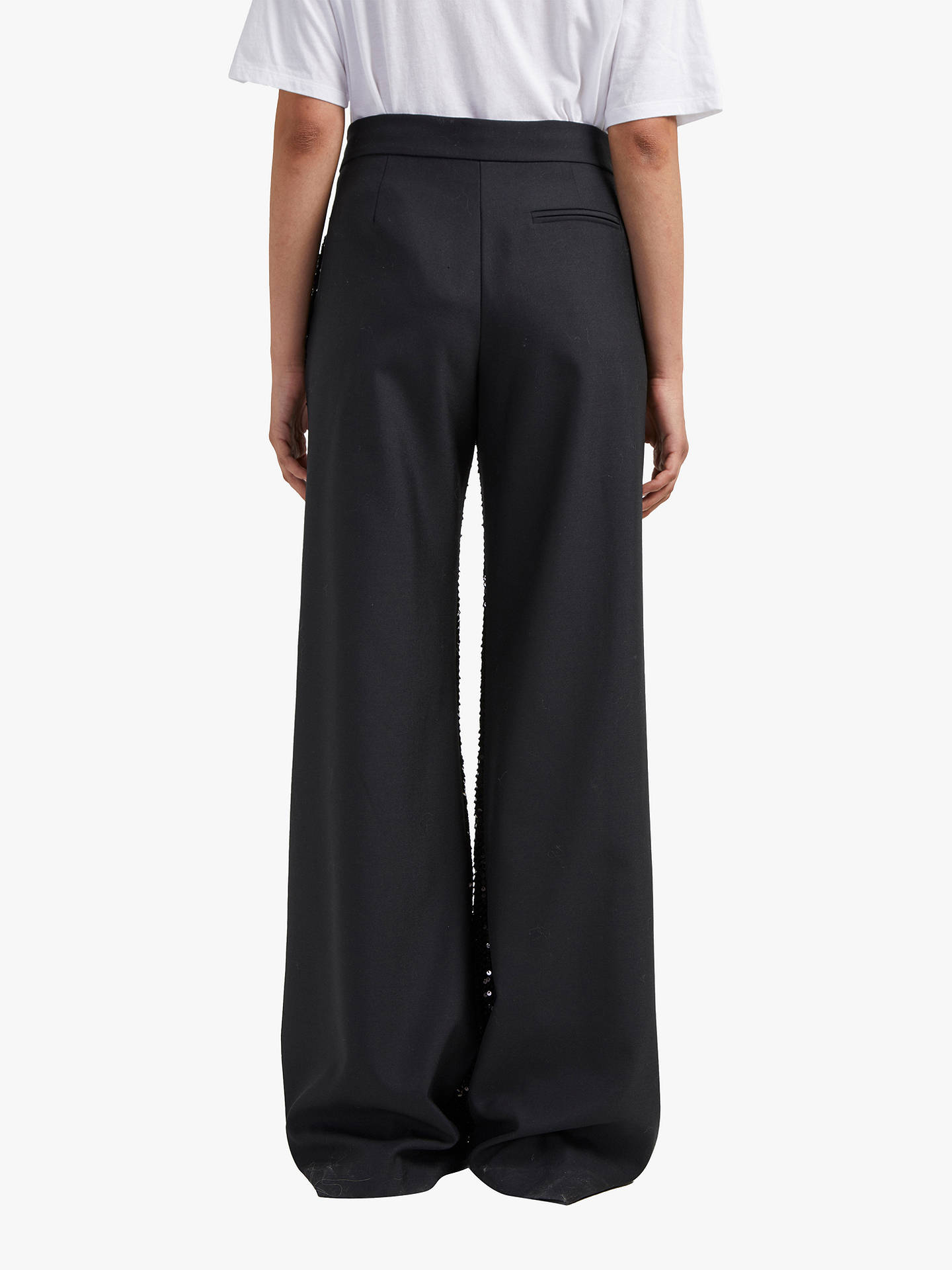 BuyFrench Connection Alodia Sequin Wide Leg Trousers, Black, 14 Online at johnlewis.com