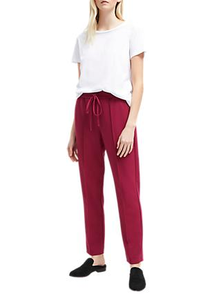 French Connection Whisper Tailored Jogger Trousers, Baked Cherry