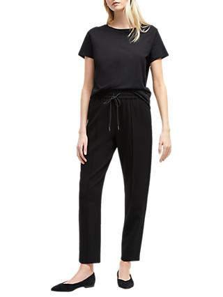 French Connection Whisper Tailored Jogger Trousers, Black