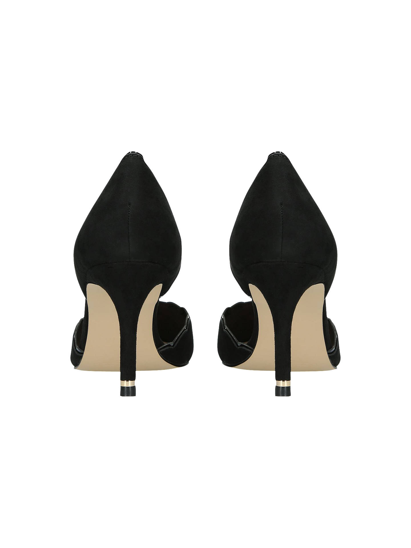 Buy Carvela Loving Scalloped Court Shoes, Black, 3 Online at johnlewis.com