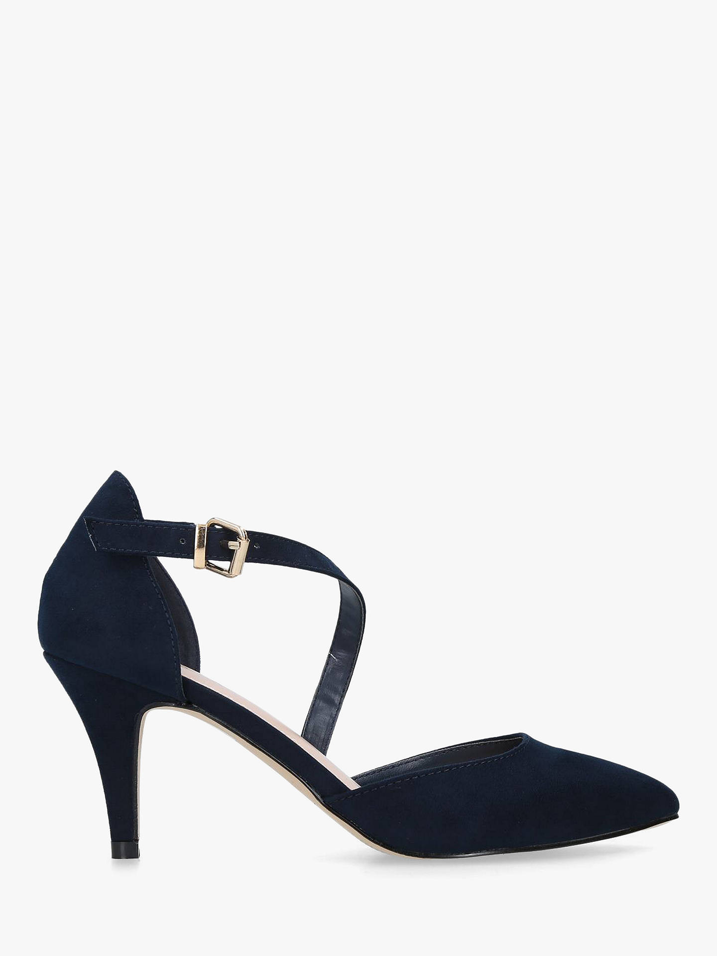 BuyCarvela Kitey Mid Heel Court Shoes, Navy, 3 Online at johnlewis.com