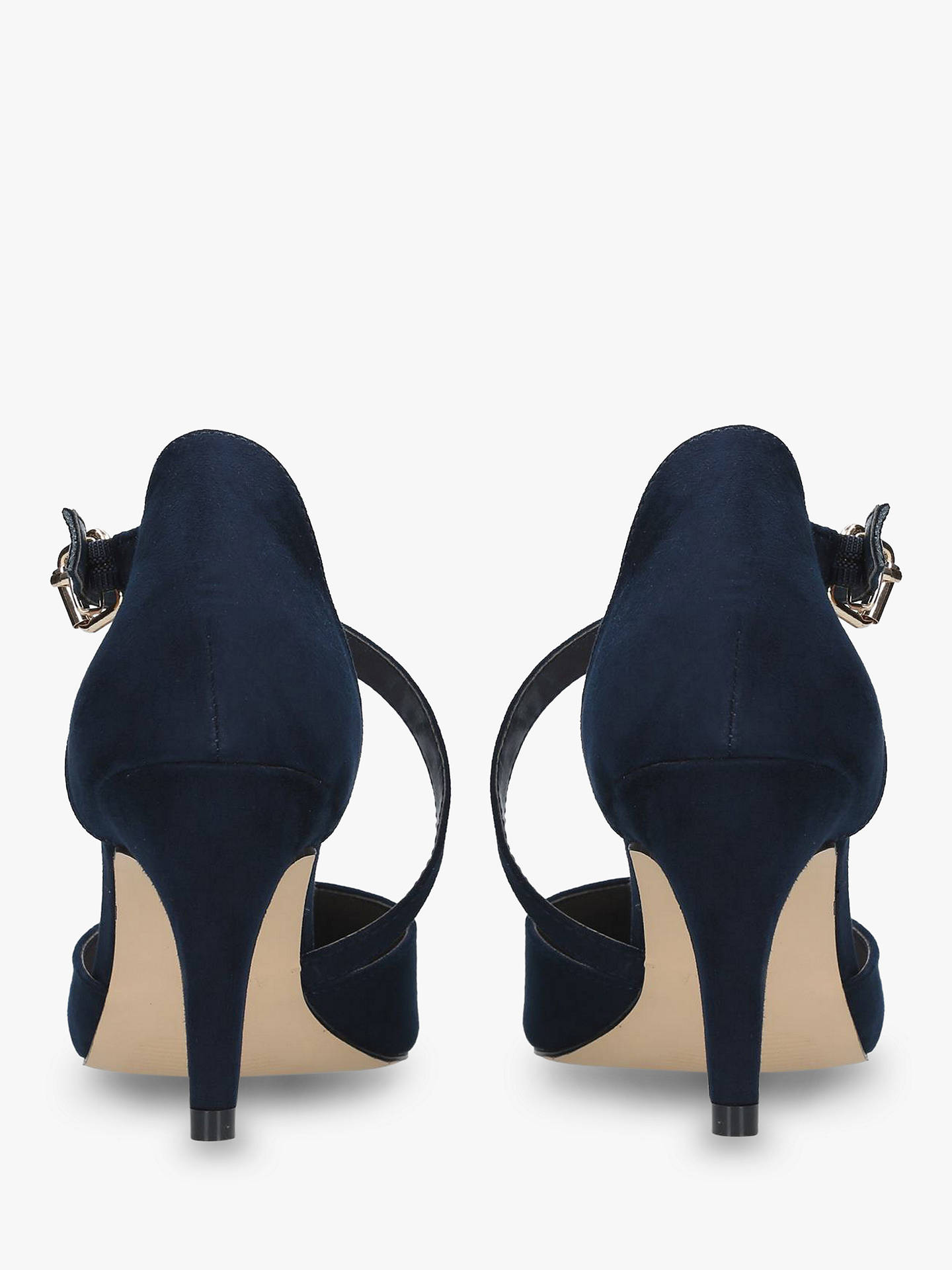 Buy Carvela Kitey Mid Heel Court Shoes, Navy, 3 Online at johnlewis.com