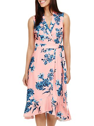 Phase Eight Felita Floral Dress, Coral