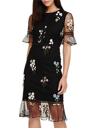 Phase Eight  Embroidered Dress, Black
