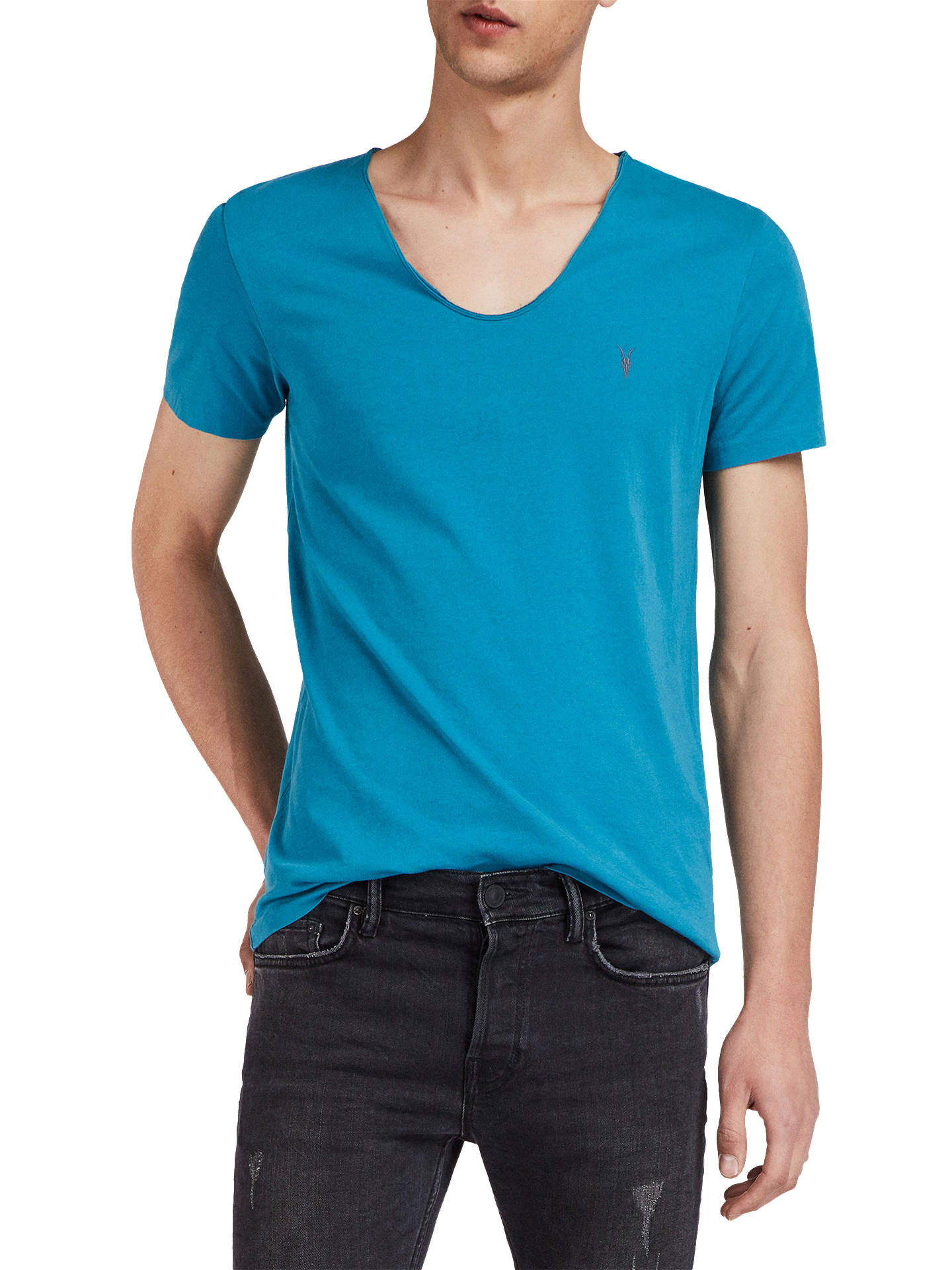 8757f5af2cb2 Buy AllSaints Tonic Scoop Neck T-Shirt, Arch Blue, XS Online at johnlewis  ...