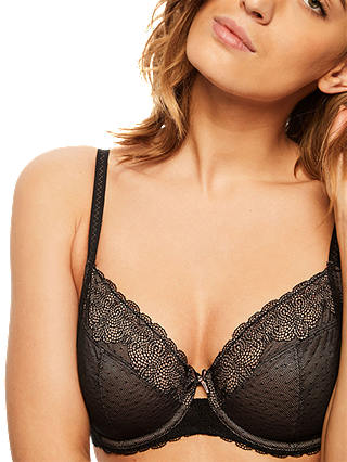 Buy Chantelle Le Marais Full Cup Bra, Black, 34D Online at johnlewis.com