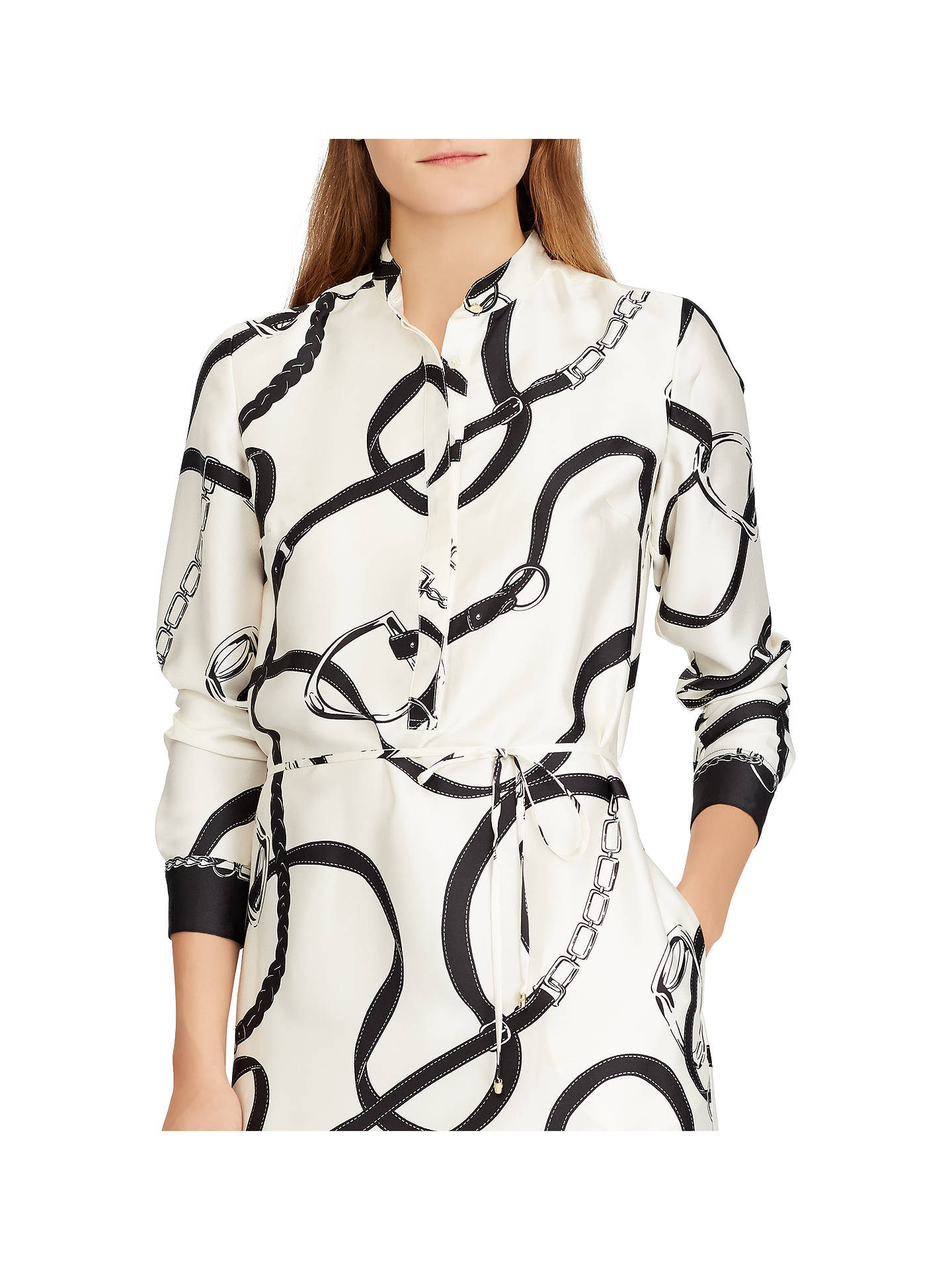 popular brand the sale of shoes first look Lauren Ralph Lauren Namzie Dress, Black/Cream at John Lewis ...