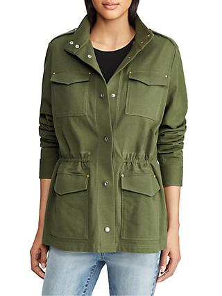 Lauren Ralph Lauren Rashieka Cotton Jacket, Admiral Green