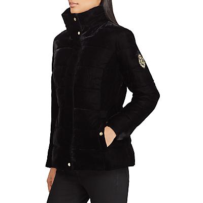 Lauren Ralph Lauren Eelke Crest Patch Puffer Jacket, Black