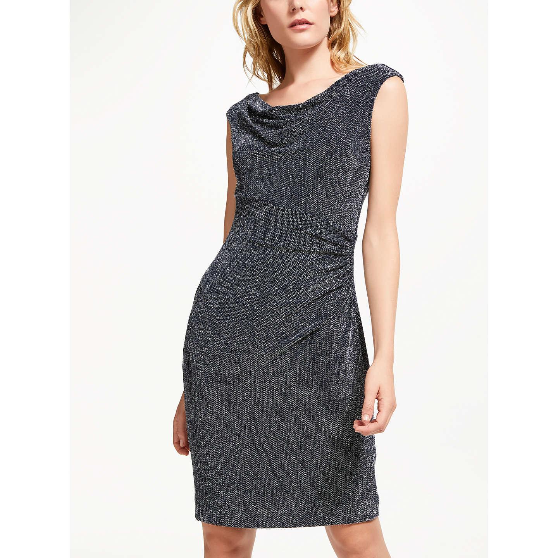 Lauren Ralph Lauren Lovella Cap Sleeve Cocktail Dress, Navy/Silver ...