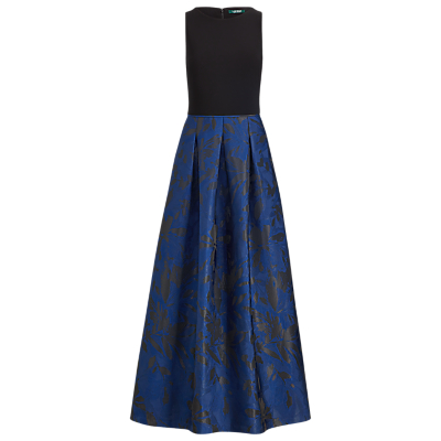 Lauren Ralph Lauren Leydena Maxi Dress, Dutch Blue/Black