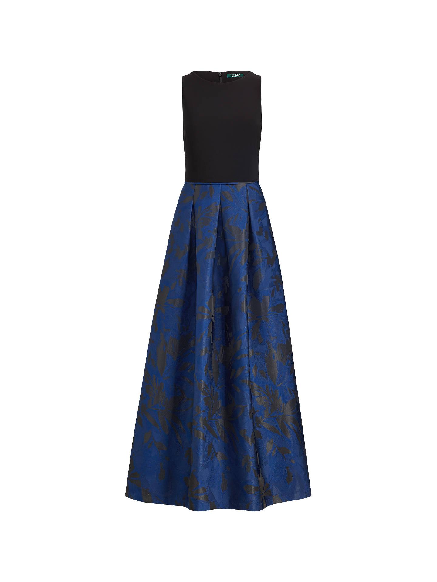 Lauren Ralph Lauren Leydena Maxi Dress, Dutch Blue/Black at