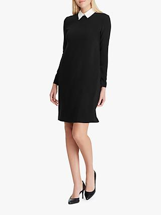 Lauren Ralph Lauren Perlie Long Sleeve Cuff Detail Dress, Polo Black/White