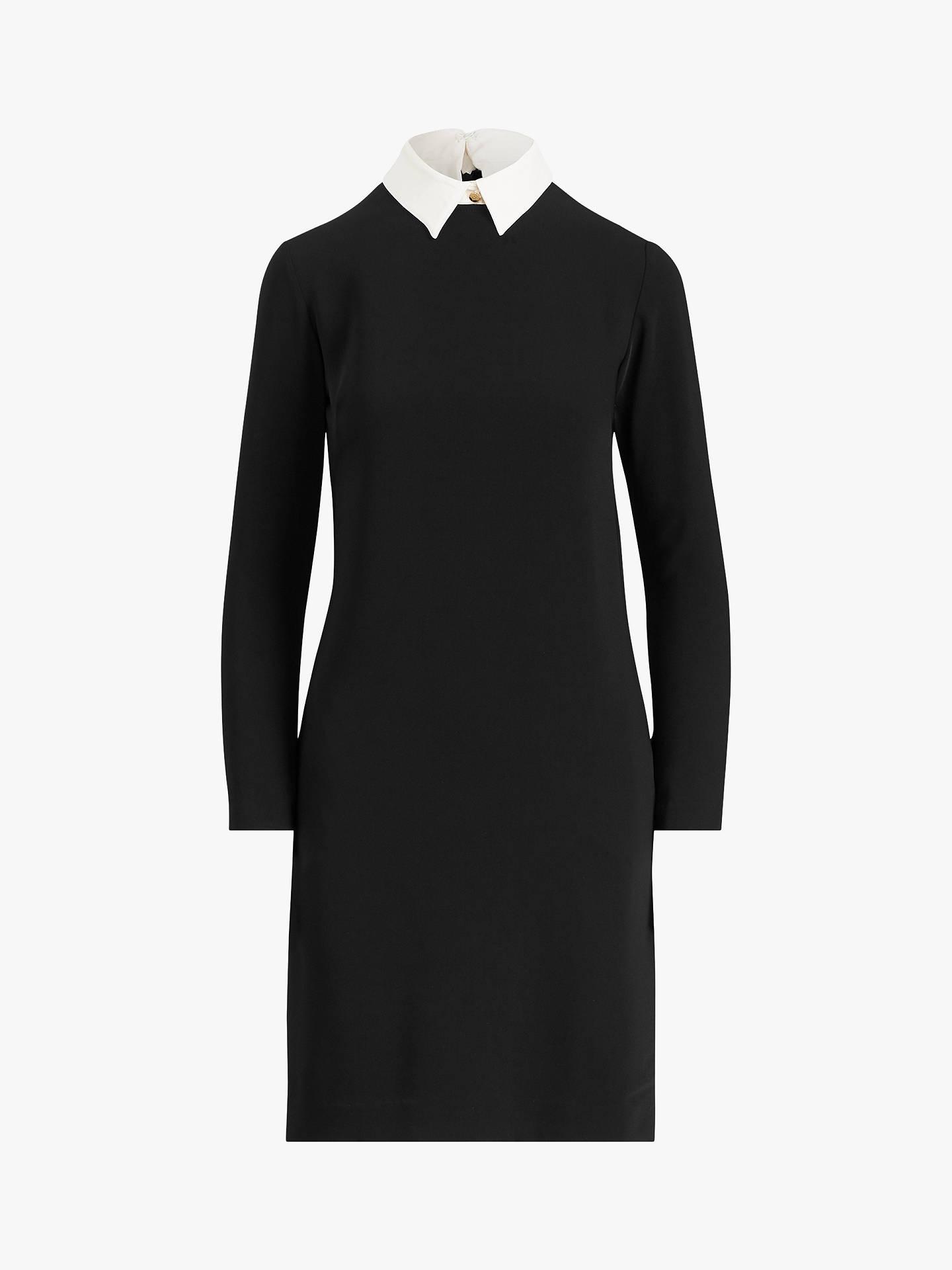 Detail DressPolo Black Sleeve Ralph Cuff Perlie Lauren Long LR5j43A