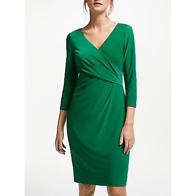 Lauren Ralph Lauren Cleora Ruched Dress, Lush Emerald