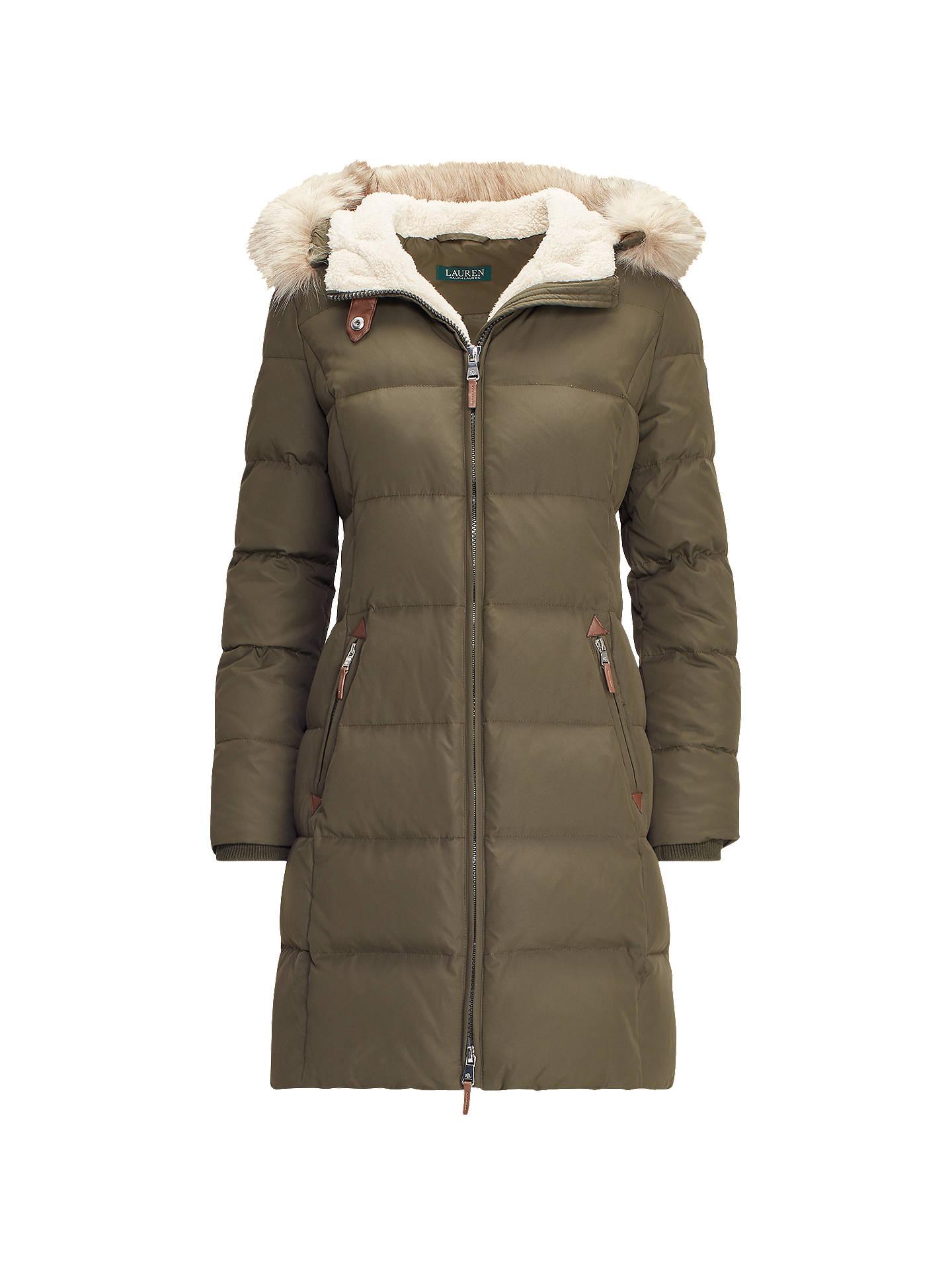 2b0907010 Buy Lauren Ralph Lauren Padded Down Jacket, Litchfield Loden, XS Online at  johnlewis.