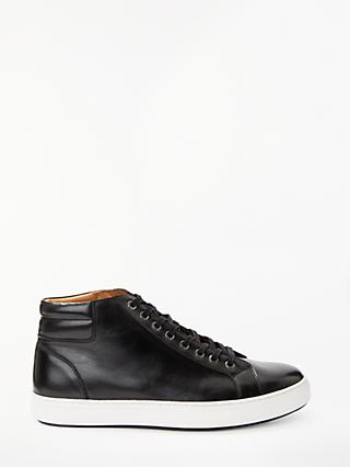 John Lewis & Partners High Top Cupsole Trainers, Black