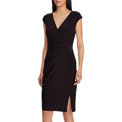 Lauren Ralph Lauren Aideena Capped Sleeve Dress, Black