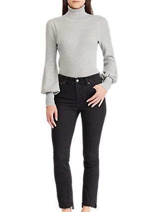 Lauren Ralph Lauren Phylicia Puffed Sleeve Sweater, Stone Grey Heather c56b231c1408