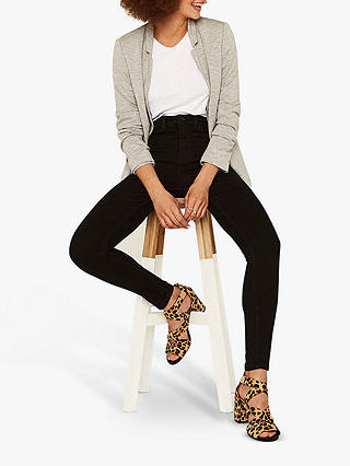 Oasis Lily Stiletto Skinny Ankle Grazer Jeans Black At