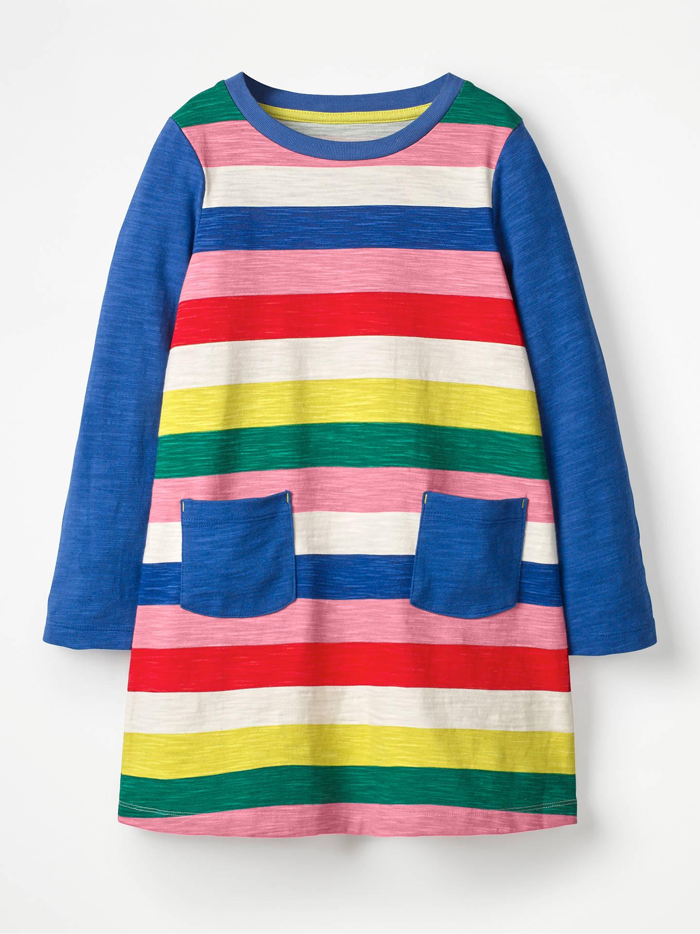 55c8465bc8b9 Buy Mini Boden Girls' Stripe Dress, Rainbow, 4-5 years Online at ...