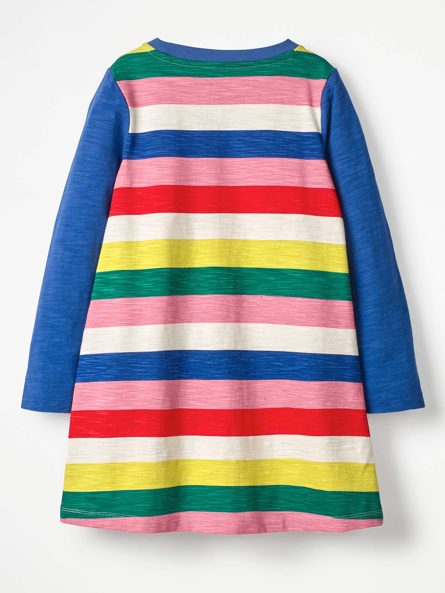 221db5a11b6e ... Buy Mini Boden Girls' Stripe Dress, Rainbow, 4-5 years Online at ...