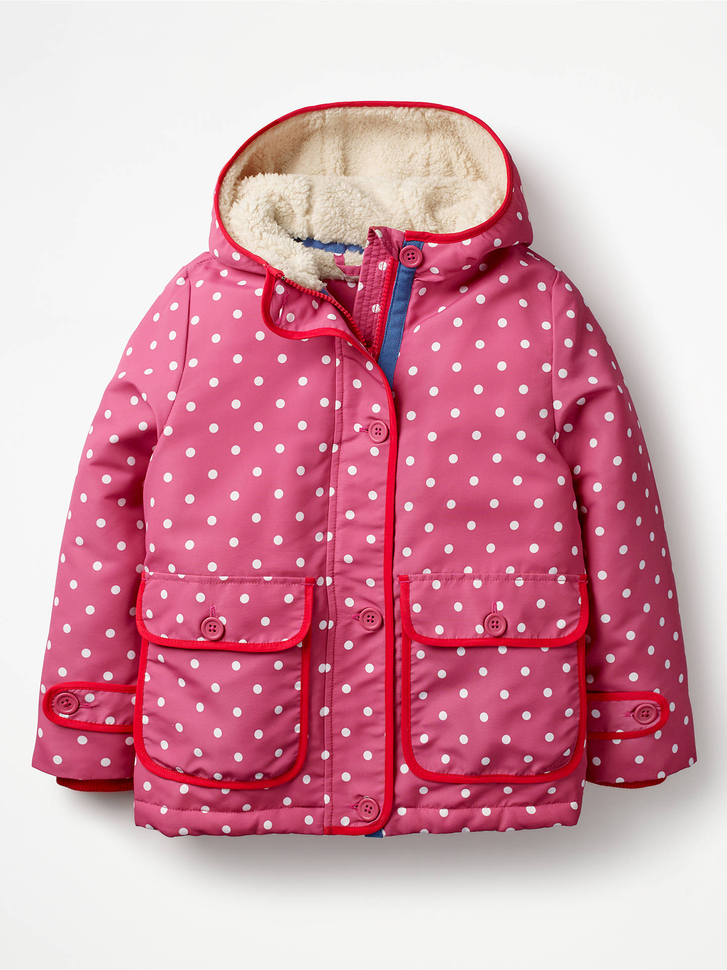 3f1f766a5955 Mini Boden Girls  Sherpa Lined Anorak Coat