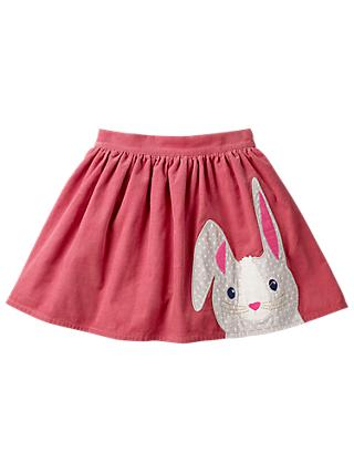 Mini Boden Girls' Applique Rabbit Skirt, Rose Pink