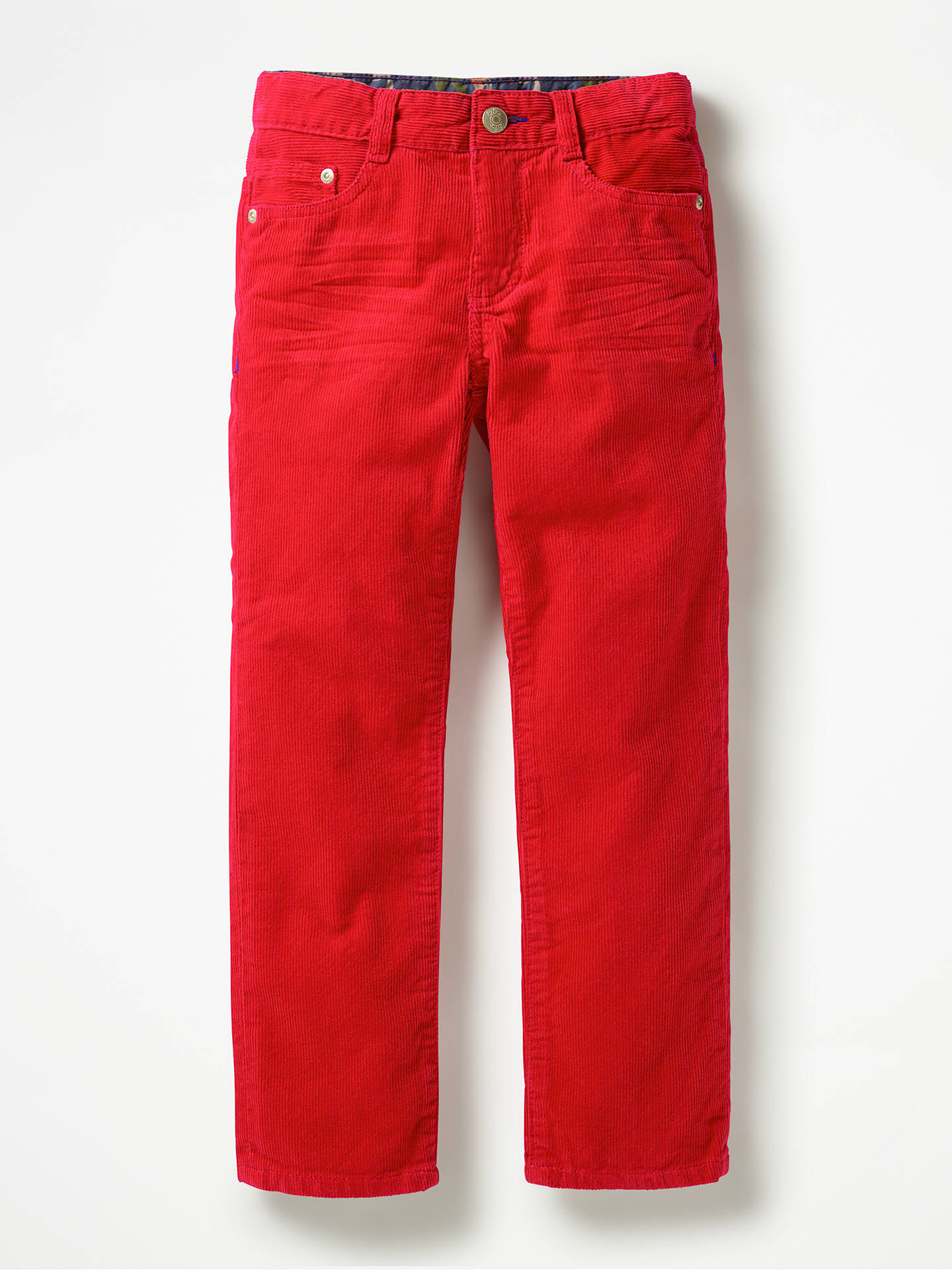 73978f009 Buy Mini Boden Boys' Slim Corduroy Jeans, Candy Apple Red, 4 years Online