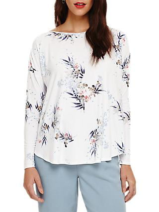 Phase Eight Lilith Floral Print Top, Ivory/Multi