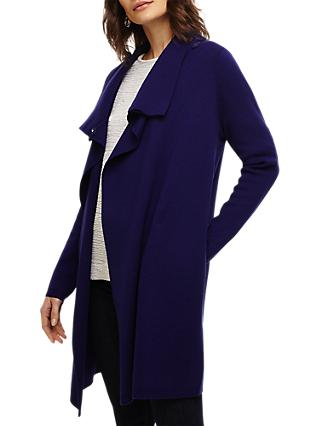 Phase Eight Paloma Knit Coat, Cobalt
