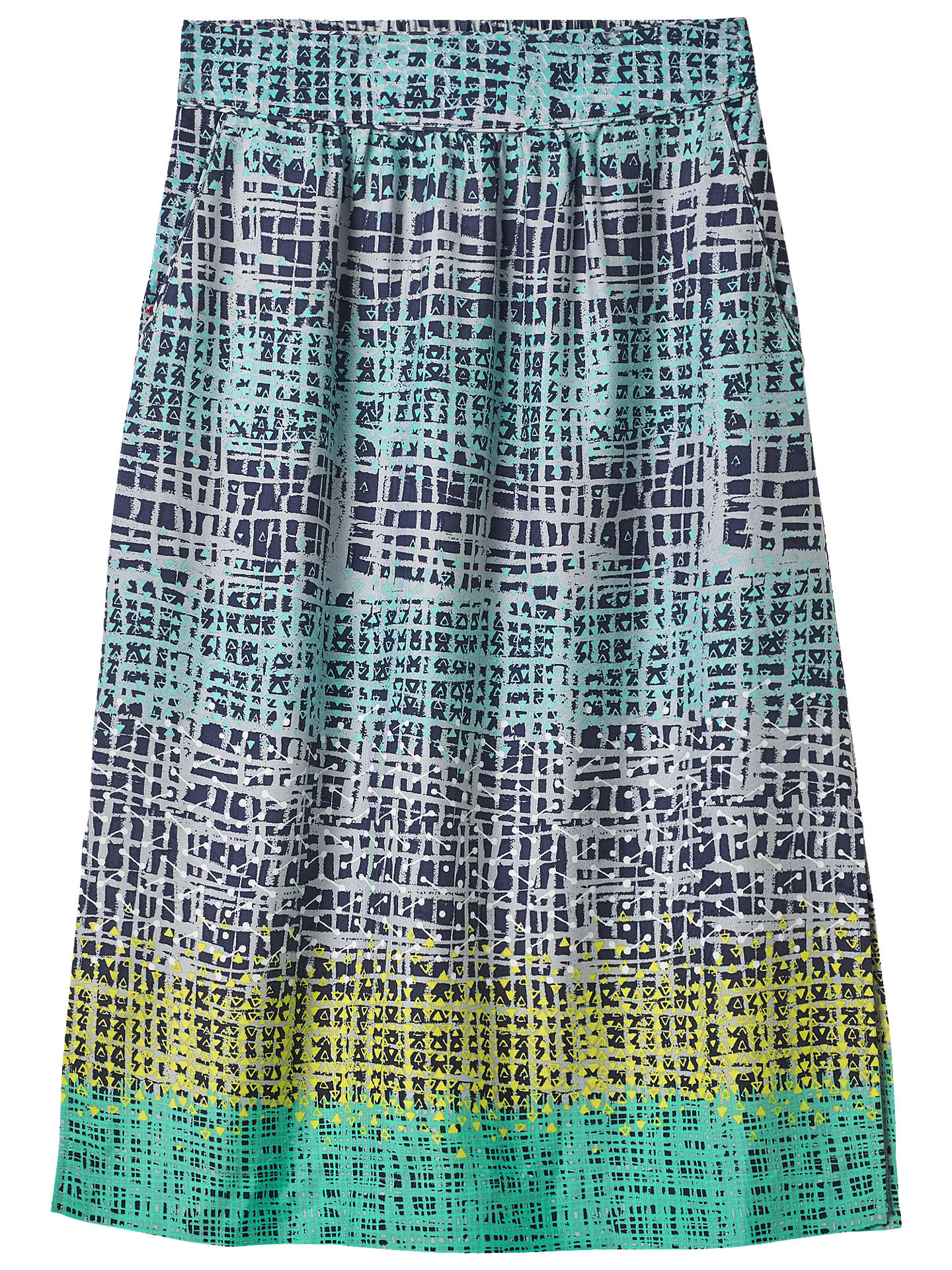 bbda788d7ee White Stuff Etch Midi Skirt, Peacock/Green Print at John Lewis ...