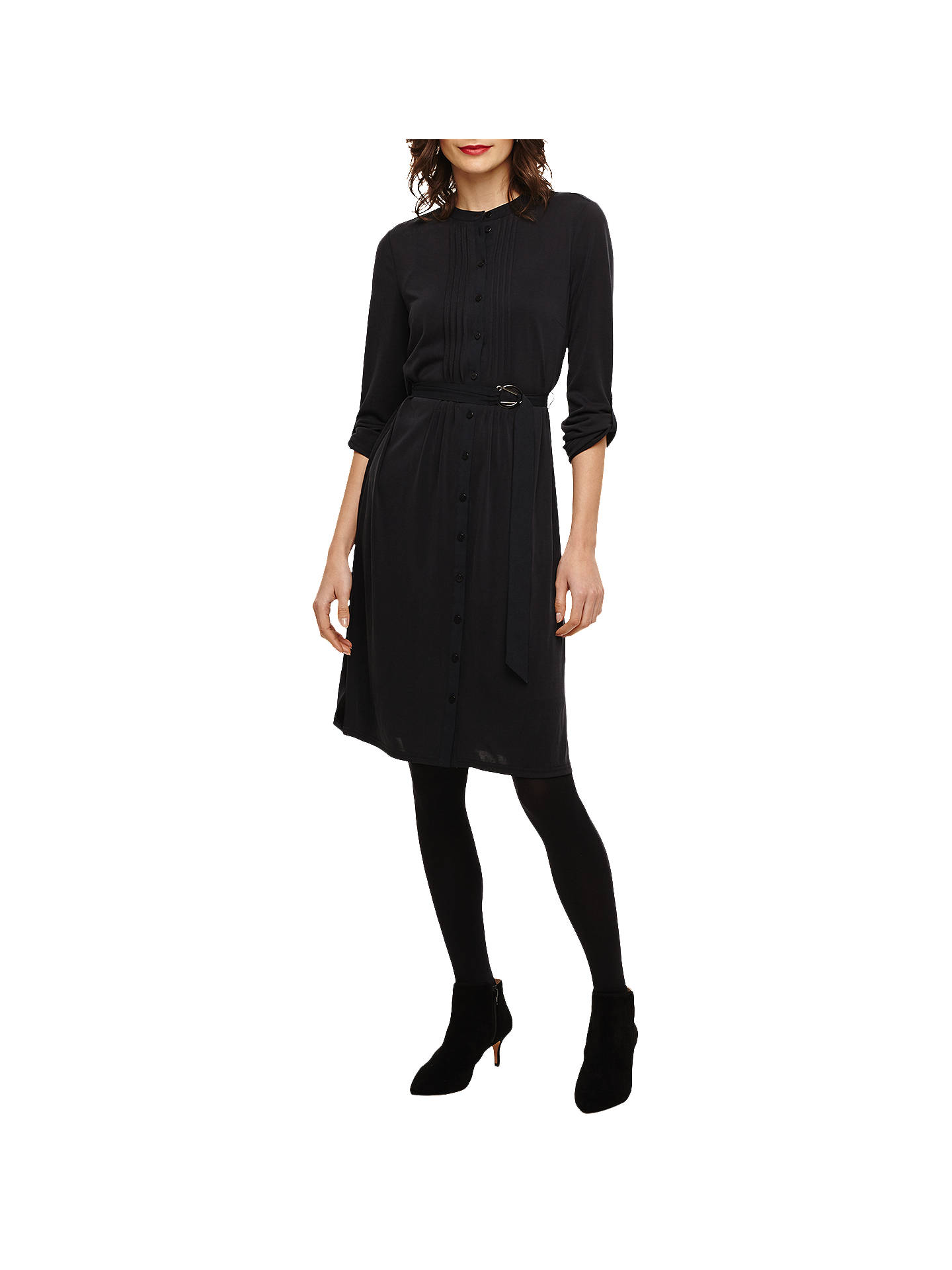 c976f9907471 Buy Phase Eight Cadee Cupro Shirt Dress, Charcoal, 10 Online at  johnlewis.com ...