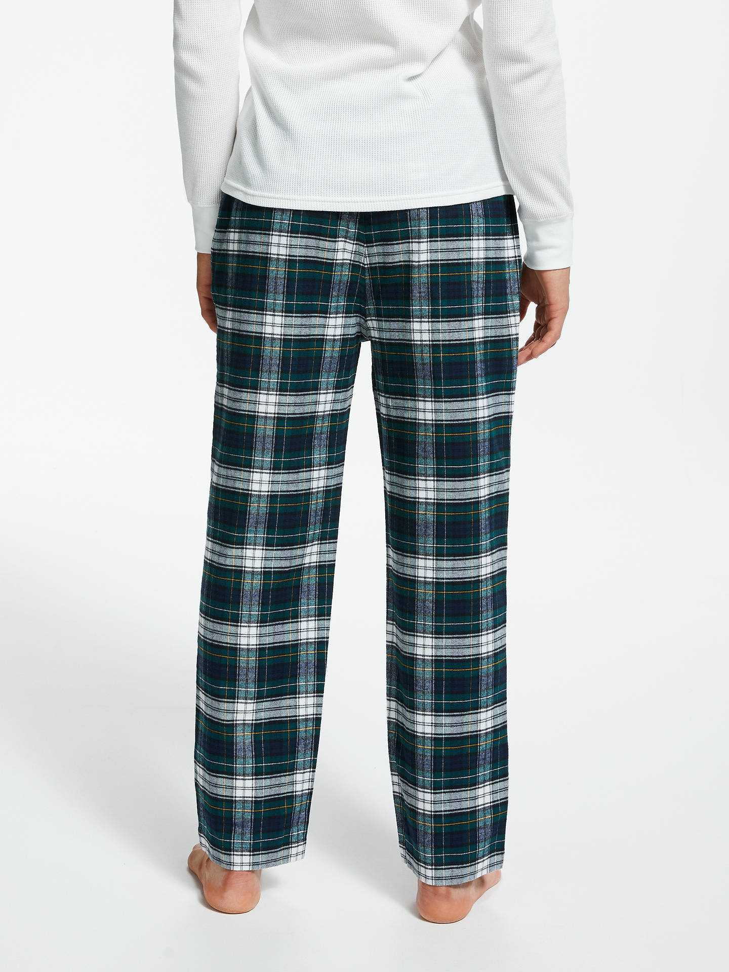 Buy Polo Ralph Lauren Flannel Check Lounge Pants, Green, S Online at johnlewis.com
