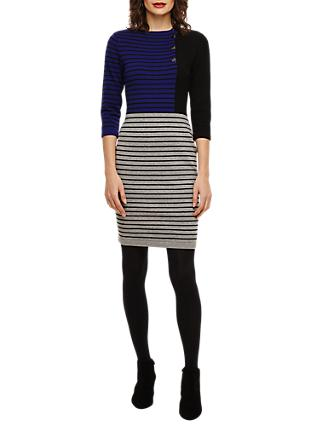 Phase Eight Odetta Stripe Dress, Sapphire