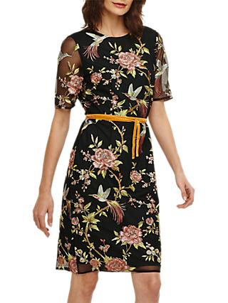 Phase Eight Embroidered Dress, Multi