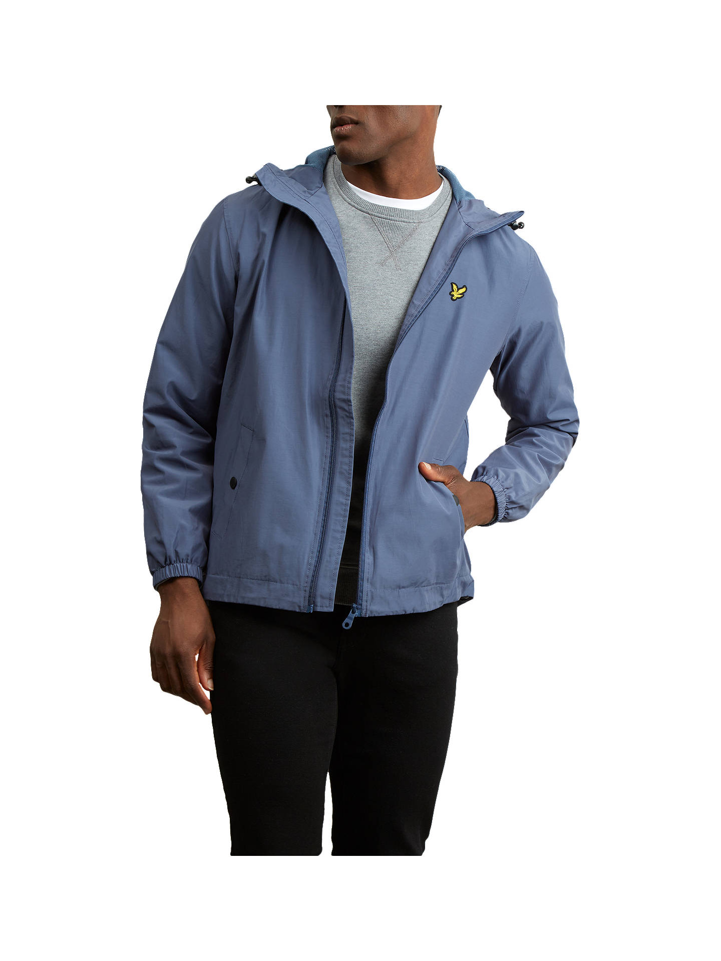 d5b6a3499542 Buy Lyle & Scott Zip Hooded Jacket, Navy, XL Online at johnlewis. ...