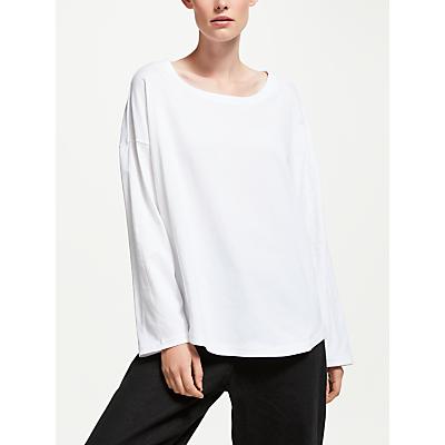 Kin Crossover Side Long Sleeve T-Shirt, White