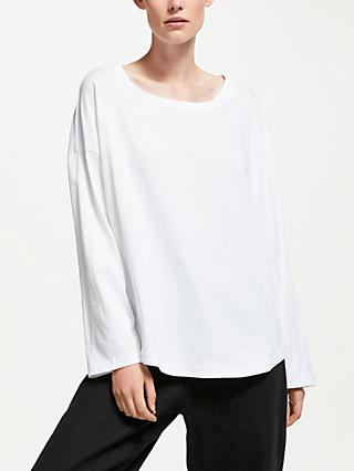 Kin Crossover Side Long Sleeve T-Shirt, White