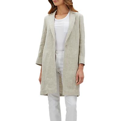 Jaeger Textured Linen Blazer, Grey