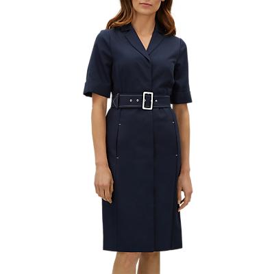 Jaeger Belted Dress, Navy