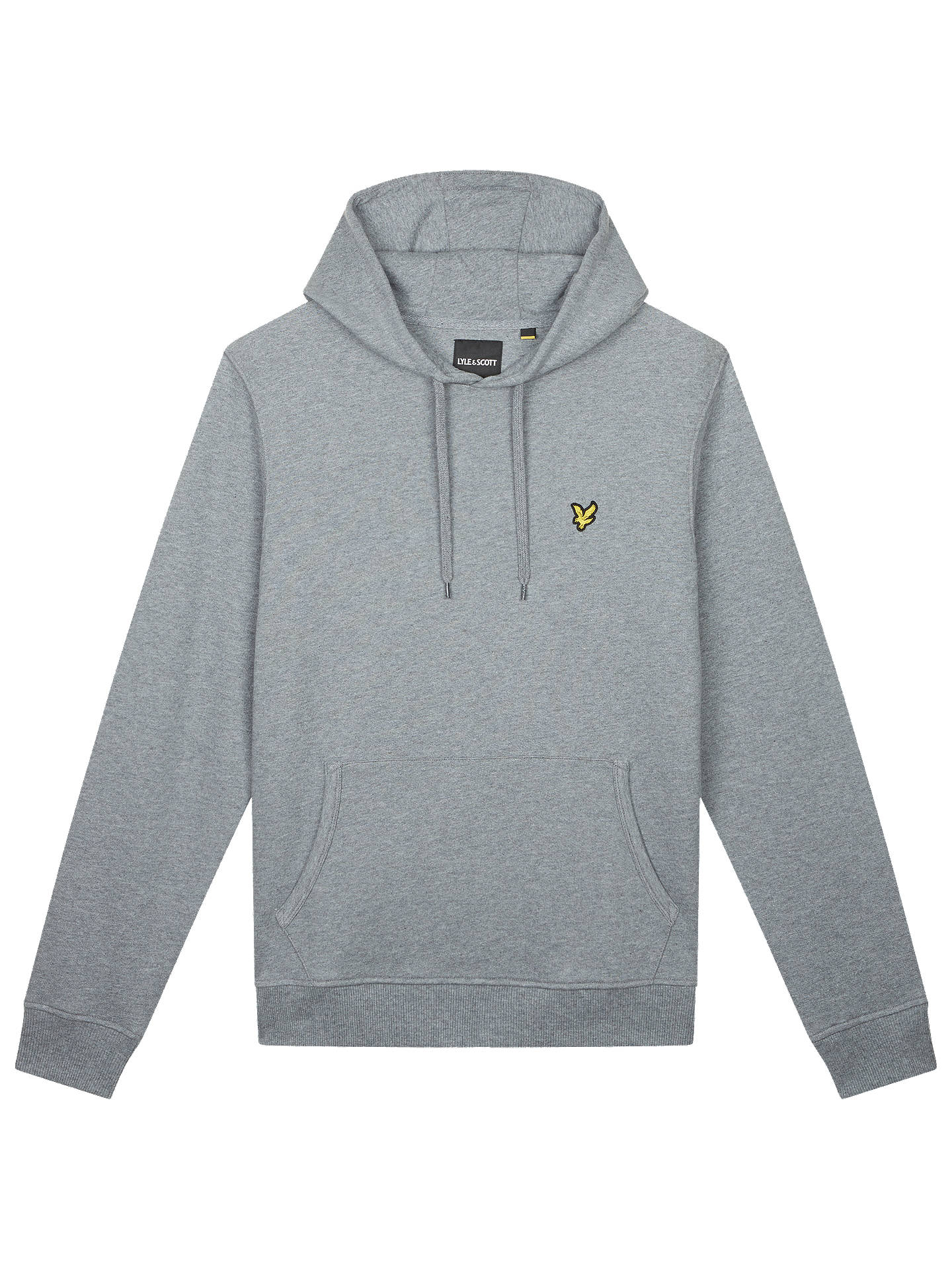 5d366f808d10 Buy Lyle & Scott Jersey Hoodie, Mid Grey Marl, L Online at johnlewis.