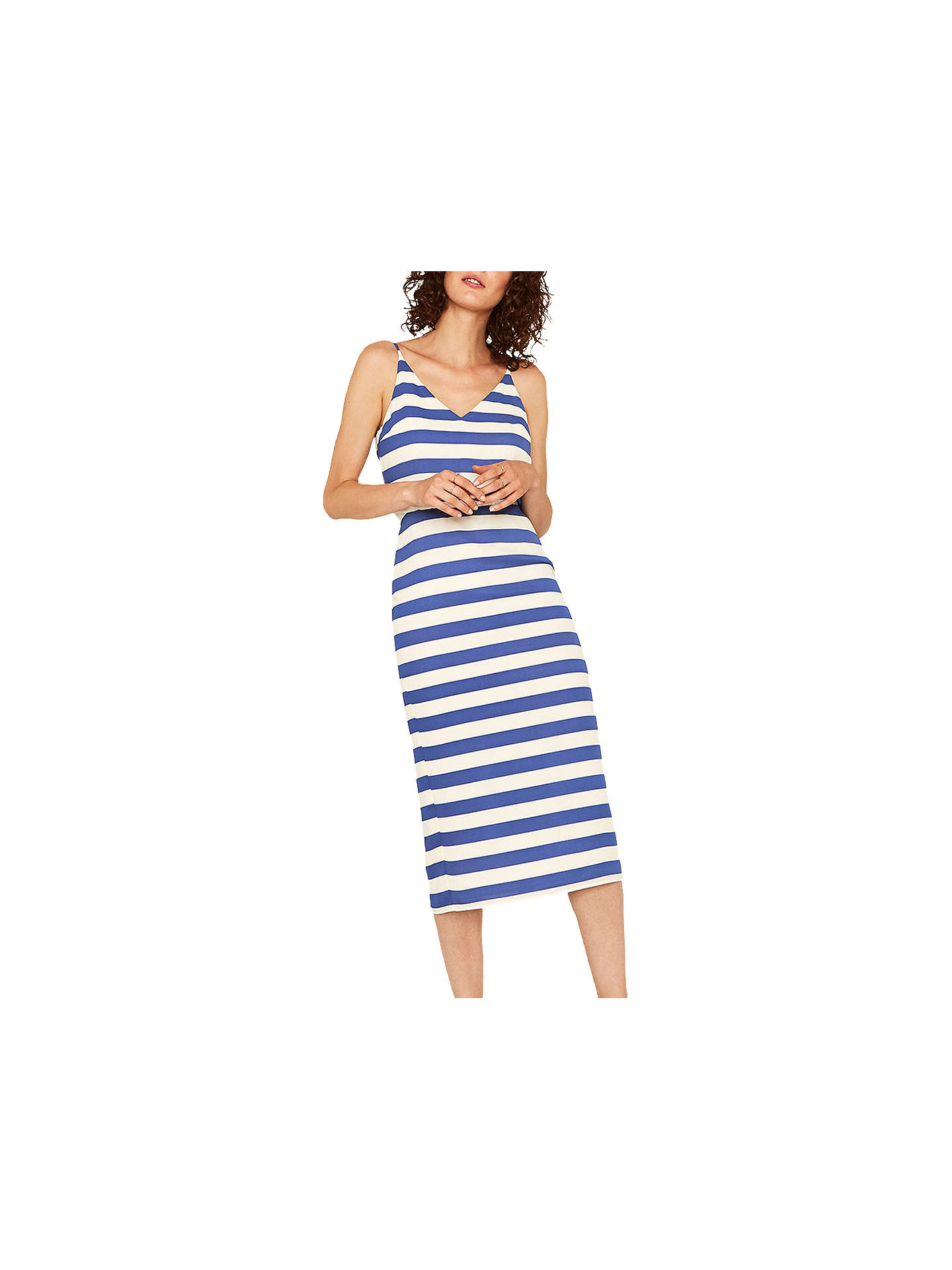 0bb9840c7107 Buy Oasis Stripe Cami Dress, Blue, 12 Online at johnlewis.com ...