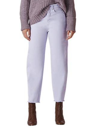 Whistles High Waist Barrel Leg Jeans, Lilac