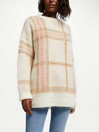 Iden Lawrence Mohair Blend Check Jumper, Multi Check