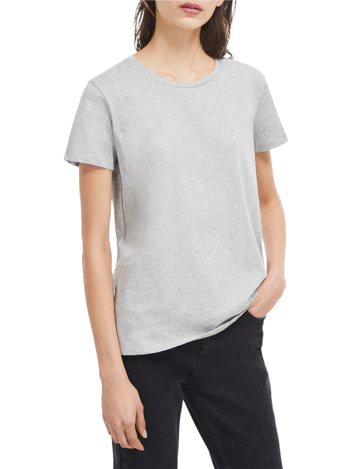 French Connection French Connection Classic Crew T-Shirt, Grey Marl